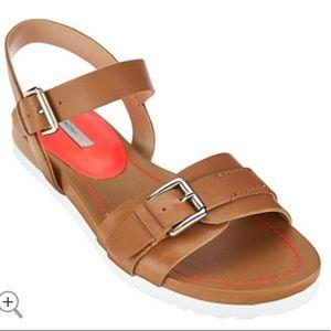 Isaac Mizrahi Live Pamela Brown Strap Sandal 10M